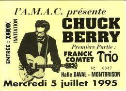 - Ticket De Concert - Chuck Berry - Halle Daval. Montbrison. 1995 - - Concert Tickets
