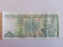 5 Pesos Nacional (CUP) Banknote Aus Kuba Von 2016 (sehr Schön Bis Vorzüglich) - Kuba