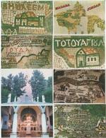CP - Jordanie - Jordan - MADABA - Orthodox Church Of St. George - Mosaic  - 8 VUES  . - Jordanie
