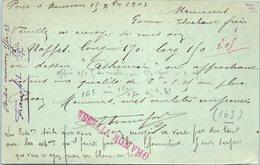 54 PONT à Mousson : A. Francfort , Rue Victor Hugo  (entiers Postaux ) Oblitération - Pont A Mousson