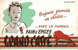 BUVARD PAIN D'EPICES GRAND CASSE BROCHET FRERES BESANCON - Pain D'épices