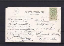 Carte:  OBLITERATION MECANIQUE D ESSAI BXL ARRIVEE - 1893-1907 Coat Of Arms