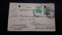 La Serbie Un Entier Postal Renforcé Circulé à Alemania - Serbia