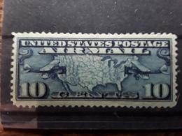USA / Etats Unis, Airmail Poste Aérienne Avion Lignes Postales 1926 Yvert N° 7 Scott C 7,10 C Bleu Neuf * MH TB - Air Mail