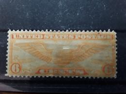 USA / Etats Unis, Airmail Poste Aérienne Winged Globe  1934 Yvert N° 15 A Scott C 19, 6 C Orange Neuf (* )MNG TB - Air Mail