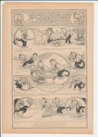 Humour De 1909 Une Bonne Leçon Avec Des écrevisses Pêche Marchande De Poissons Crustacé écrevisse Chat Animal 216CH15 - Vieux Papiers
