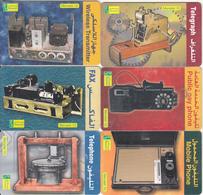 EGYPT(chip) - Telecommunications, Set Of 6 Menatel Telecards 10 L.E., Chip GEM3.1-3.3, Used - Egypt