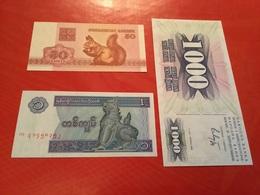 LOT DE 3 Billets Neuf - Monnaies & Billets