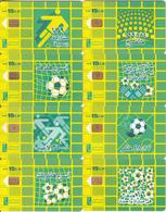 EGYPT - Football, Set Of 8 Menatel Telecard L.E.15, Chip Incard 4, Used - Egypt