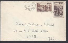 FR - N° 345 Et 347 Sur Enveloppe De Longré Pour Lyon - Cachets Hexagonaux 3-8-1937 - B/TB - - 1921-1960: Moderne