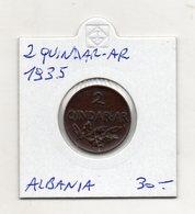 Albania - 1935 - 2 Qindar Ar - (FDC9730) - Albania