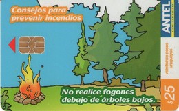 TARJETA TELEFONICA DE URUGUAY, 424a (174) CONSEJOS PARA PREVENIR INCENDIOS - Uruguay