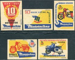 MOTORCYCLE 1959 Czechoslovakia Motocycle Moto Bike Motorbike Scooter Motorrad Roller Cycling Vignette Poster Match Label - Luciferdozen - Etiketten