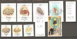 TAAF, 1988 à 1990, Faune Marine, Lot Divers - Tonga (1970-...)