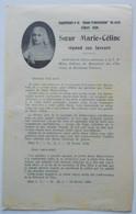 - Ancien Document Religieux - Soeur Marie-Céline - Bordeaux Talence - - Religion & Esotericism