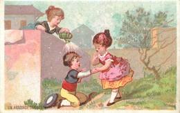 CALENDRIERS Calendrier 1881  L'arrosage 2scans - Autres