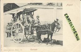 Campania Curricolo Classico Carrettino Con Cavallo Di Napoli Primi 900 - Cartoline