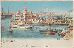 PORT SAID - ENTREE DU CANAL (CARTE LUMINEUSE) - Port Said