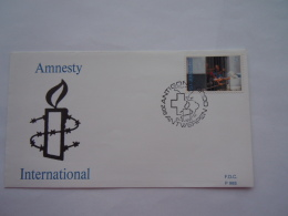 België Belgique 21-09-1991 Amnesty International Stempel Antigoon Anwerpen 2422 - FDC