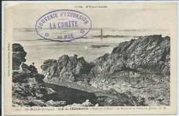 Saint-Malo-Côte D'Emeraude-Ile De Cézembre-Rade De Saint-Malo-Le Phare (Tampon: Souvenir D'excursion En Mer: La Comète) - Saint Malo