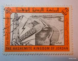 JORDAN 1963. East Ghor Canal Project. 35f - Black And Orange. SG 536. FINE USED. - Jordanië