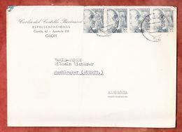Brief, MeF Franco, Gijon Nach Muehlacker 1953 (51411) - 1951-60 Briefe U. Dokumente