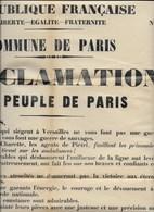 Fac-similé Affiche De Proclamation De La Commune De Paris - Affiches