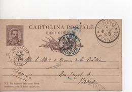 Timbres.entier Postal.Italie.1889. - 1861-78 Vittorio Emanuele II