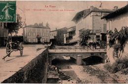 10 - CPA - REALMONT - Quartier Des Fontaines - 1908 - Animée - (n&b) - - Realmont