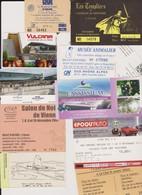 Lot 11 Tickets Entrées Musée, Salons, Vulcania, Musée Des Confluences Lyon, Cassissium, Le Corbusier - Tickets - Vouchers
