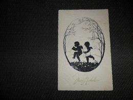 Carte Silhouette   Silhouetkaart   Anges  Angelot   Ange  Engel - Silhouettes