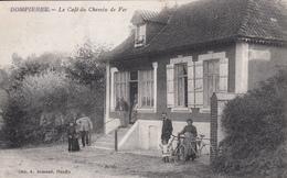 CPA 80 -   DOMPIERRE - Le Cafe Du Chemin De Fer - Francia