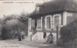 CPA 80 -   DOMPIERRE - Le Cafe Du Chemin De Fer - Altri Comuni