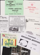 Lot 8 Tickets Entrées Musée, Salons, Expositions, Monte-Carlo, Rodez - Tickets - Vouchers