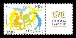 France 2018 Mih. 6983 Sports Association Of Communications Workers. Cycling. Basketball. Tennis. Volleyball MNH ** - Ongebruikt