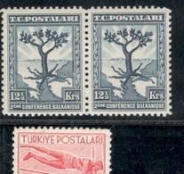 Turkey1931:Michel941(Scott733)mnh**pair - 1921-... Republic