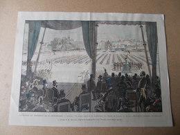 LIMOGES LIMOUSIN GRAVURE PRESIDENT CARNOT 18 MAI 1891 1E FETE FEDERATION GYMNIQUE DES SOCIETES  GYMNASTIQUES Hte Vienne - Gymnastics
