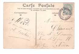 Marcophilie Cachet Cormatin Saone Et Loire 1905 Avec Indicatif Boite Rurale A - Pour Macon - Timbre Type Blanc Sur Cpa - Marcophilie (Lettres)