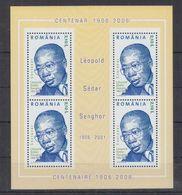 B20. MNH Romania Famous People Leopold Sedar Senghor - Célébrités