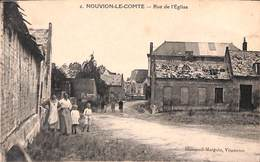 02 - Nouvion-le-Comte - Rue De L'Eglise (Dumesnil-Marguin, Animée) - France