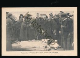 Messina 1908 - S. Maestà Il Re Vista Le Vittime Della Catastrofe [ FG 114 - Non Classés