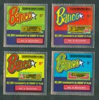 Grattage FDJ - Série Complète BANCO 52 - La Deuxième émission 1990 - Billets De Loterie