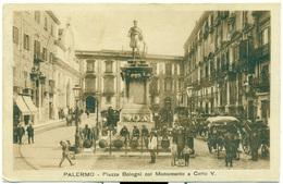 ITALIA SICILIA PALERMO, Piazza Bologni Col Monumento A Carlo V; Italy - Palermo