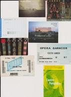 Lot 8 Tickets Entrées Musées, Centre Pompidou, Quai D'Orsay, Géode Paris Visite, Fondation Cartier, Musée Arts Modernes - Tickets - Vouchers