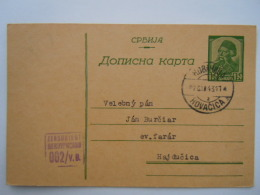 Serbie Stationary Entier Postal Ganzsache Carte 1943 Kovacica -> Hajducica Censor Zensuriert - Serbie