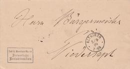 France Alsace Lettre De Service Altkirch 1889 - Alsazia-Lorena