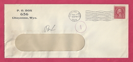 Business Letter Mailed In Cheyenne, Wyoming, In 1928 With Scott #599 [#2801] - Postal History