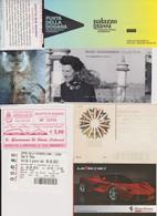 Lot 7 Tickets Biglietti Entrées Musées, Muséo Italie Italia Ferrari, Venise, Sienna, Guggenheim, Palace Grassi - Tickets - Vouchers