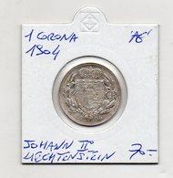 Liechtenstein - 1904 - 1 Corona - Johann II° - Argento - (FDC9733) - Liechtenstein