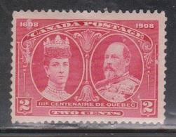 CANADA Scott # 98 MH - 300th Anniversary Of Quebec - Paper Adhesion - 1911-1935 Règne De George V